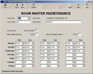 Room Master Screen