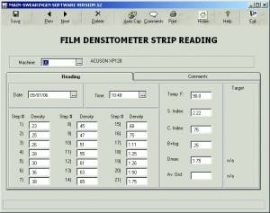 Film Densitometer Strip Reading
