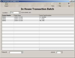 In-House Transaction Batch