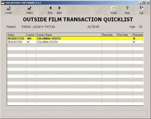 Outside Film Transaction Quicklist