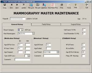 Mammography Master Maintenance