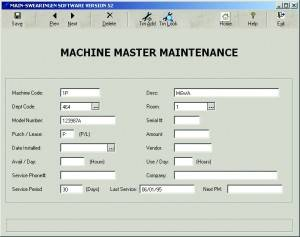 Machine Master Maintenance