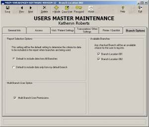 Users Master Maintenance
