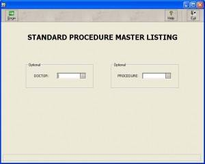 Standards Procedure Master List