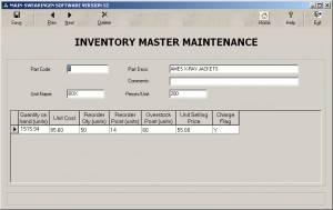 Inventory Master Maintenance